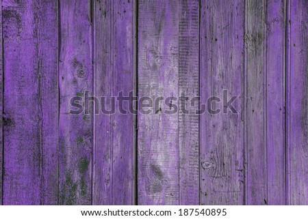 painted old wooden wall. purple background - stock photo