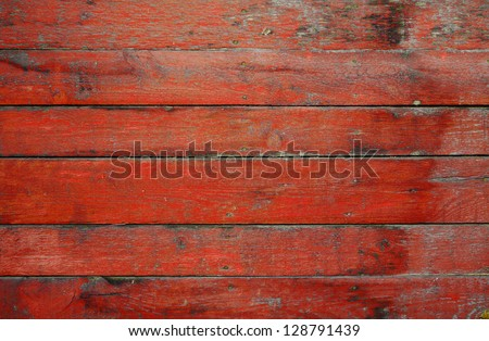 painted old wooden wall. red background - stock photo