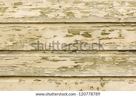 Painted peeling wooden panels texture - stock photo