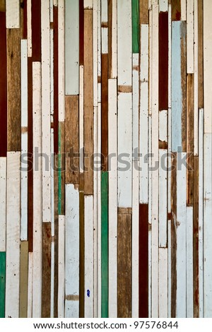 Painted plank wood striped pattern background texture surface - stock photo