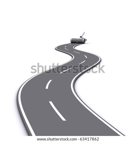 painted road - stock photo