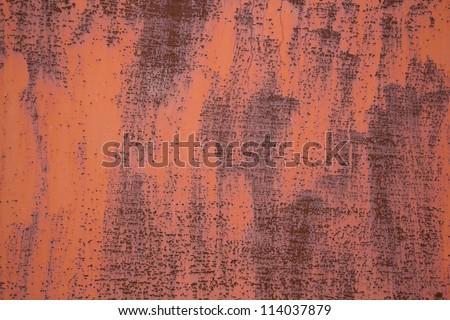 Painted rusty metal sheet - stock photo
