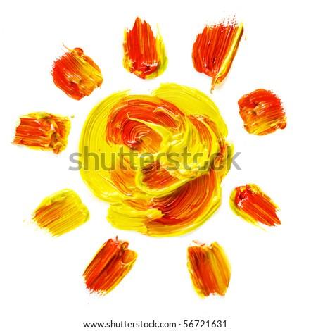 Painted Sun - stock photo
