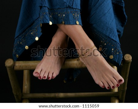 Painted toes - stock photo