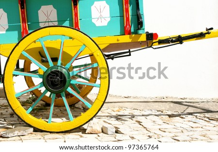 painted wagon - stock photo