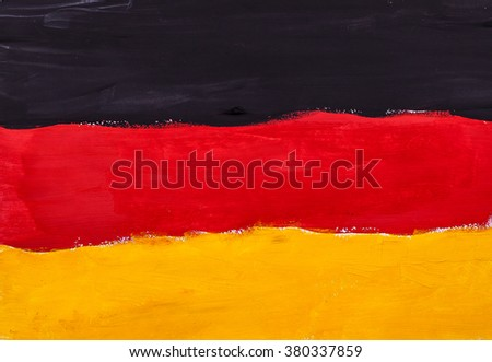 Painted water colors country flag of Germany