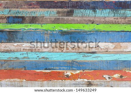 Painted weathered wood as background - stock photo