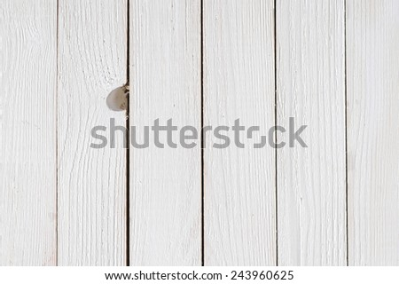 Painted white wood rustic background - stock photo