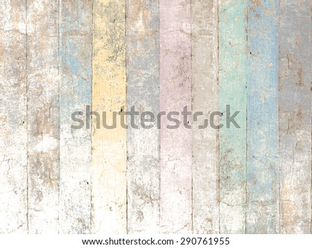 Painted wood background with pastel colors in soft vintage style - stock photo