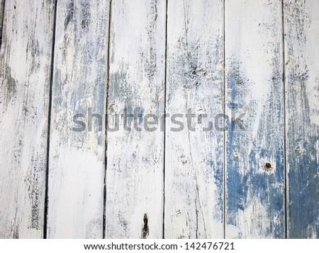Painted wooden door, Castlefields, Manchester, UK - stock photo
