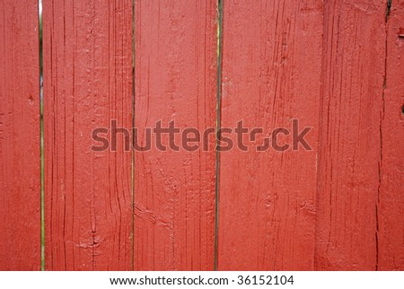 painted wooden fence - stock photo
