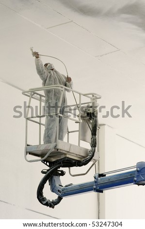 painter at work - stock photo