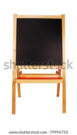 Painter´s black board isolated on white background - stock photo