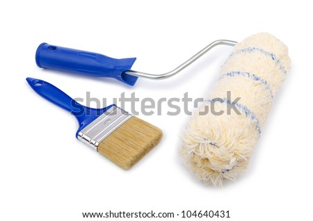 Painter's tools isolated on the white