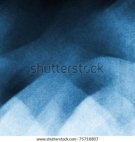 painterly blue-white-black background - stock photo