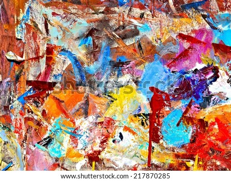 Painters palette / Artist palette / Paint on paper - stock photo