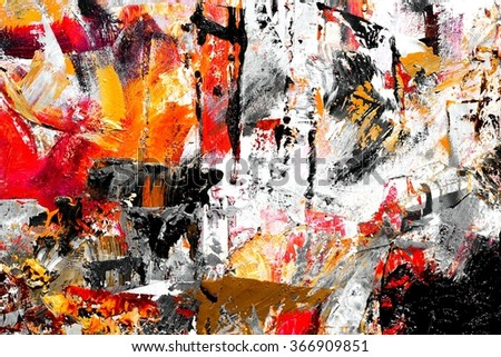 Painters palette / Artist palette / Paint on paper - stock photo