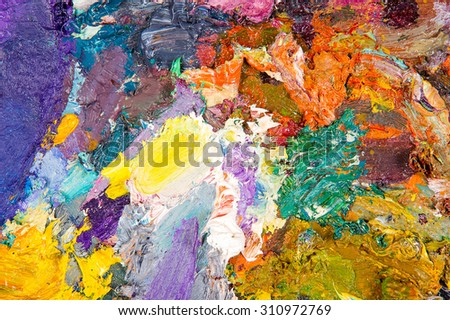 Painters palette . The artist's palette