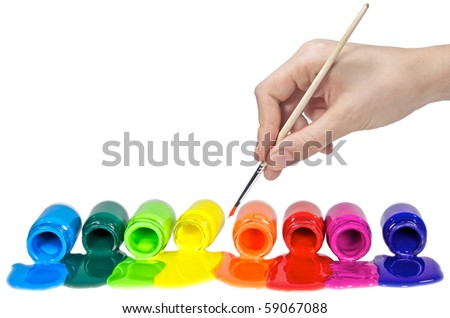 Painting. All objects are isolated on white ( clean ) background - stock photo