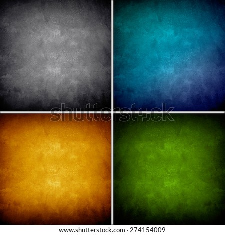 painting background collection set - stock photo
