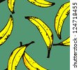Painting banana pattern - stock