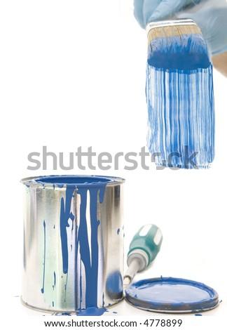 Painting Blues - stock photo