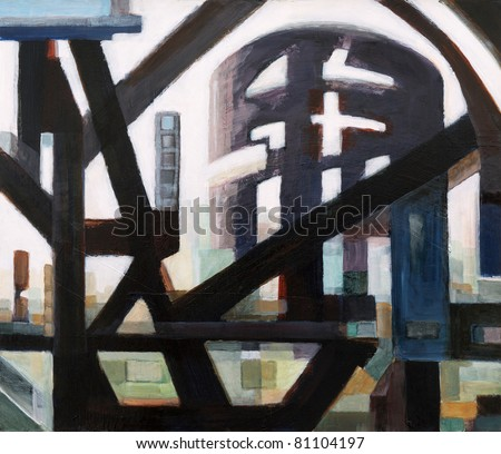 Painting by Clive Watts - Cityscape #1 - stock photo