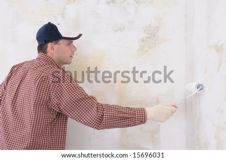 Painting contractor - stock photo