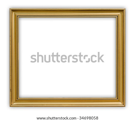 Painting frame on white background, clipping path included