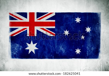 Painting Of The National Flag Of Australia - stock photo