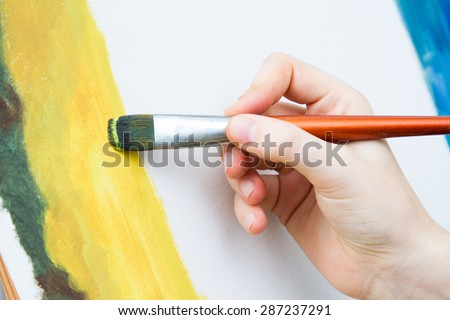 Painting on canvas - stock photo