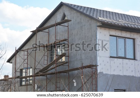 Stucco Facade Stucco Works Stock Images Royalty Free Images Vectors Shutterstock
