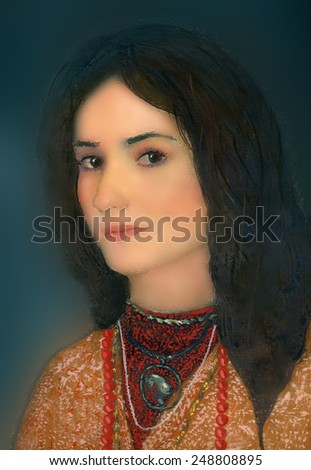 painting - portrait of a beautiful woman