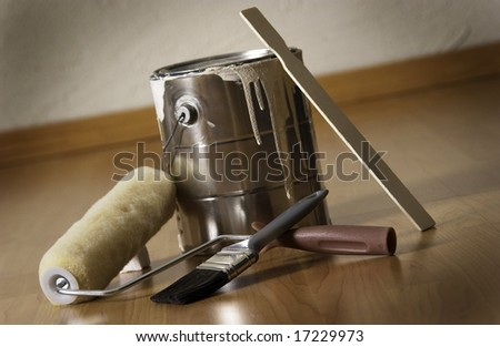 Painting supplies - stock photo