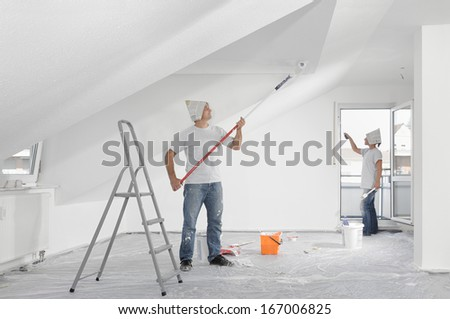 Painting the apartment - stock photo