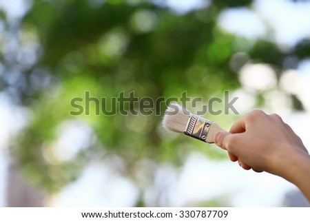 Painting the Environment - stock photo
