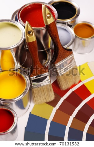 Painting time! - stock photo