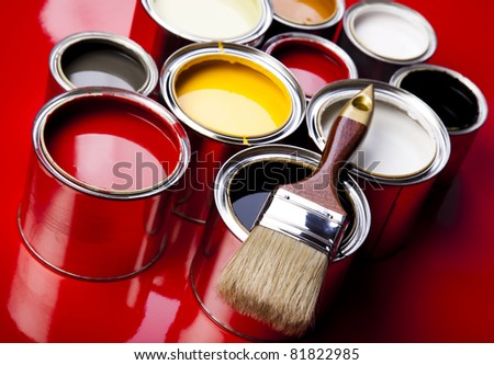 Painting time - stock photo