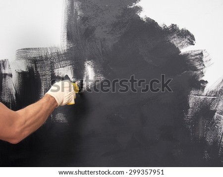 Painting Walls - stock photo