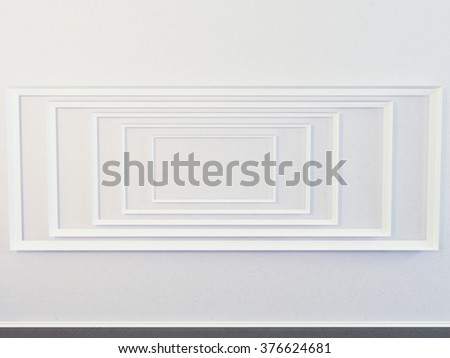 paintings on the wall, 3d rendering