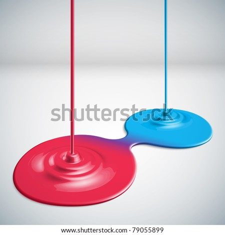 Paints Dripping - stock photo