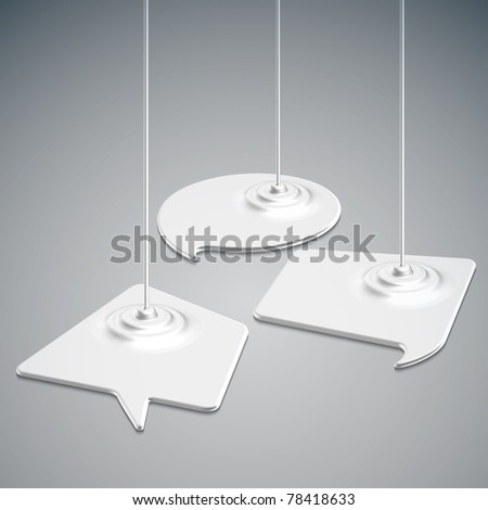 Paints Dripping Speech Bubbles - stock photo