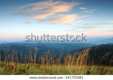 Paints fantastic fall in the Carpathian Mountains - stock photo