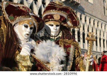 pair from carnival of venice