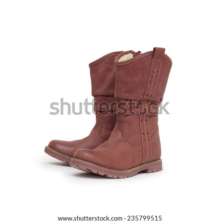 pair of boots isolated on a white background