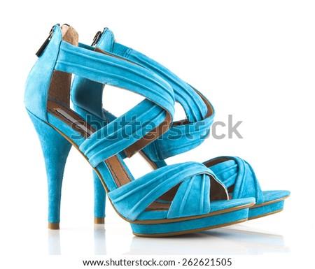 Pair of brand new high heels - stock photo