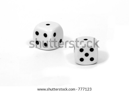 "Pair of dice with a pair of ones or ""Snake Eyes"""