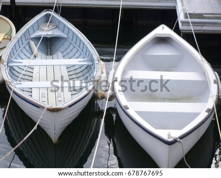 pair of docked boats
