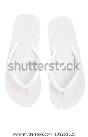 Pair of flip flops - stock photo