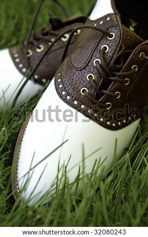 Pair of Golf shoes - stock photo